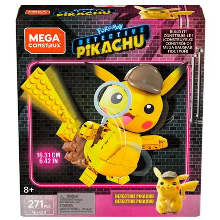 Mega Construx Pokemon Detective Pikachu Medium Pikachu Figure