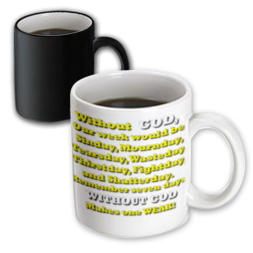 3dRose Without GOD, Magic Transforming Mug, 11oz