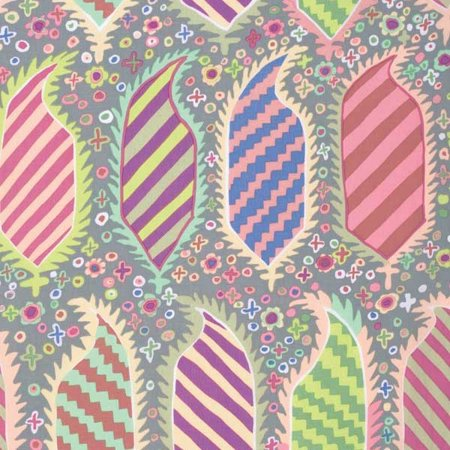 Free Spirit Fabrics Kaffe Fassett 2015 Collective Grey Striped Heraldic
