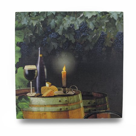 Wine By Candle Light Lighted LED Canvas Wall Hanging - image 3 de 3