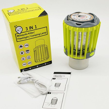 Compact Outdoor Electric Mosquito er Trap Lamp Night Light Fly Bug Lamp - image 3 of 6