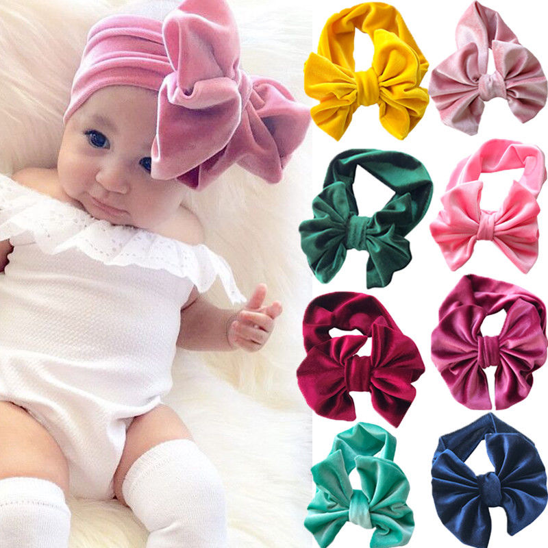 Kids Girl Baby Headband Toddler Bow Flower Hair Band Headwear Accessories