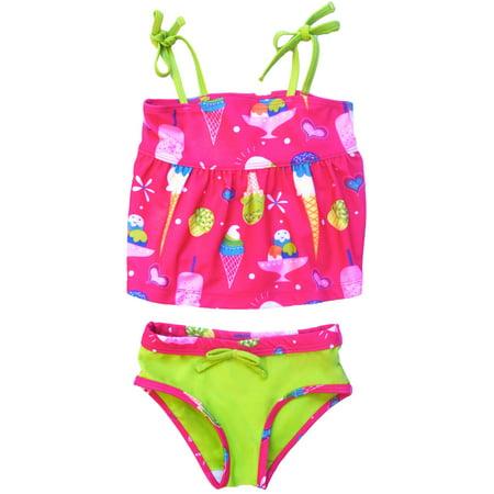 Pink Platinum Baby Girls Swimwear Ice Ceam 2pc Tankini Swimsuit