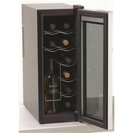 Ewc1201  10 In. Counter Top Wine Cooler  12 Bottle Capacity  Black With Platinum Finish 12 Bottle Countertop Wine