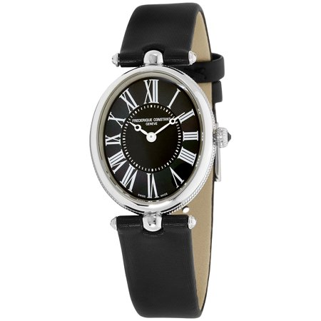Frederique Constant Mother of Pearl Dial Satin Strap Ladies Watch (Sport Mother Of Pearl Dial)