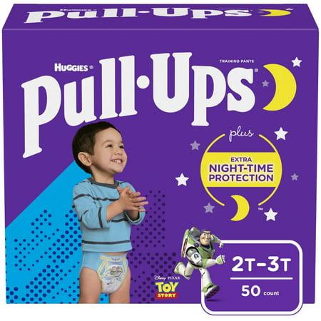 Pull-Ups Boys Night-Time Training Pants, 2T-3T, 50 Ct