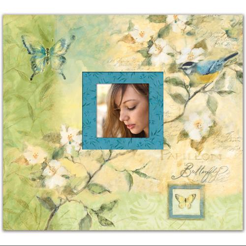 "Botanical Postbound Scrapbook Album 12""X12""-"