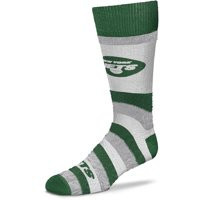 New York Jets For Bare Feet Women's Pro Stripe Crew Socks