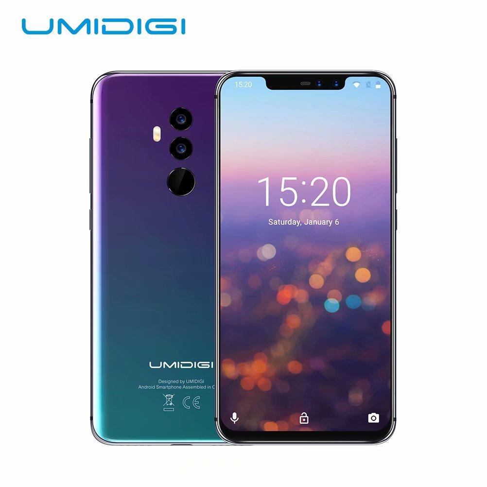 Upgrade Umidigi Z2 Android Phones 64GB, Aurora black- Unlocked Cell Phones