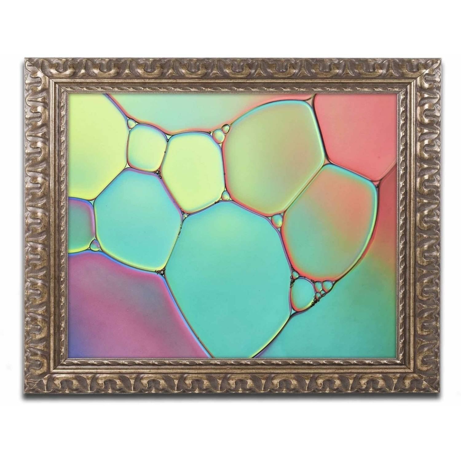 Trademark Fine Art 'Stained Glass III' Canvas Art by Cora Niele, Gold Ornate Frame