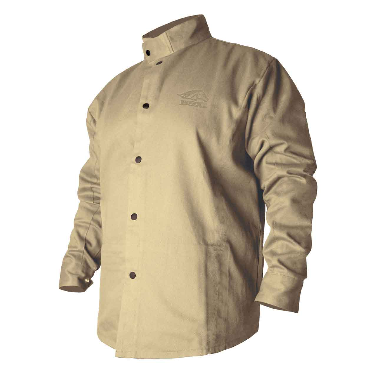 Black Stallion BSX BXTN9C Khaki Fire Resistant Cotton Welding Jacket, Large