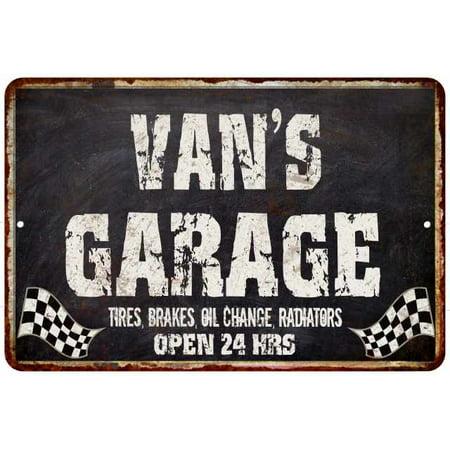 VAN'S Garage Black Grunge Personalized Sign 8x12 Decor Gift 208120005031](Personalized Vans)