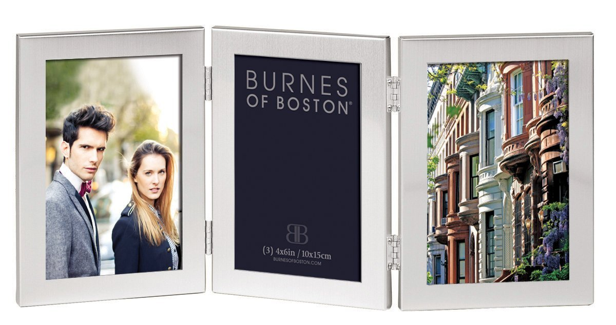 Burnes of Boston C53346 Triple Hnged Picture Frame, 4-Inch by 6-Inch ...