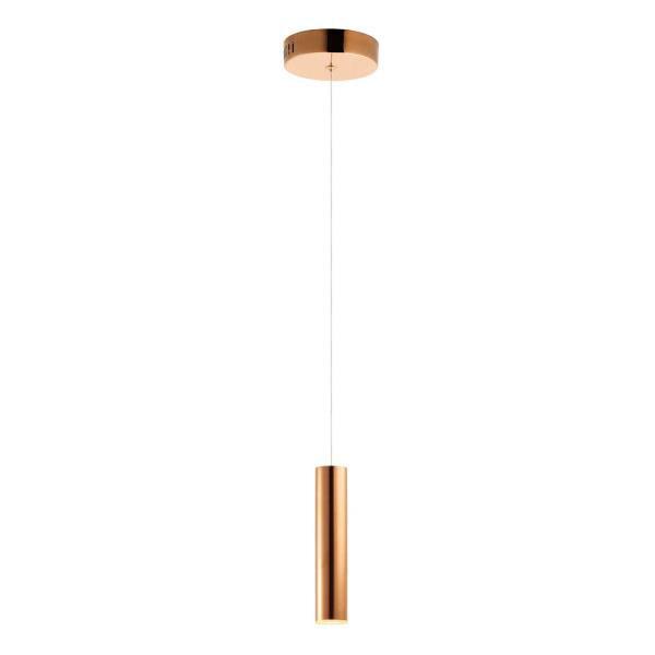 """ET2 Flute - 12"""" 7W 1 LED Mini Pendant, Rose Gold Finish"""