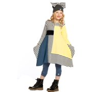 Girls Blueberry Stripe Lori Designer Fall Dress 8