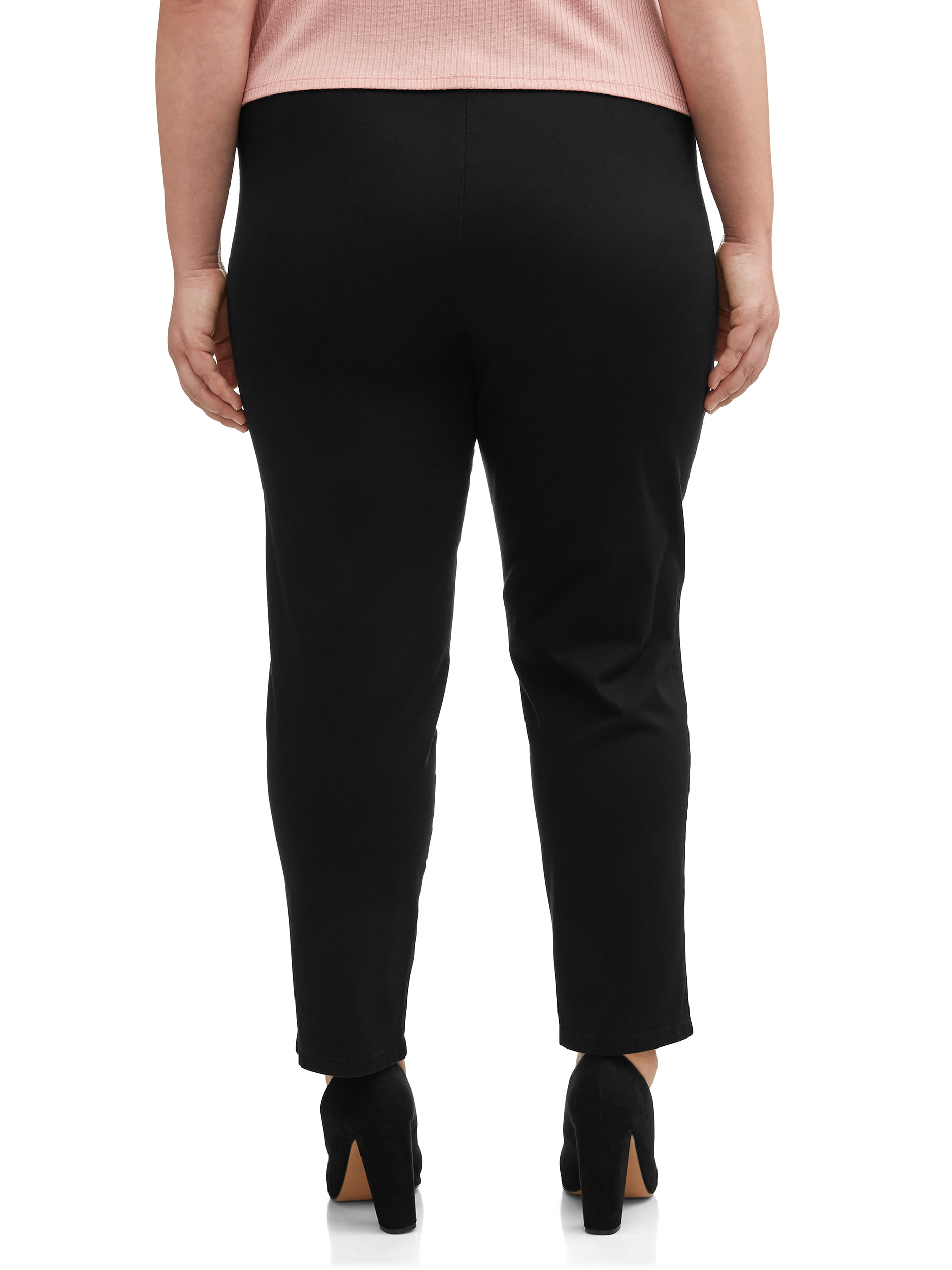 b4c0130e272cc Just My Size - Women's Plus-Size 2-Pocket Pull-On Stretch Woven Pants,  Available in Regular and Petite Lengths - Walmart.com