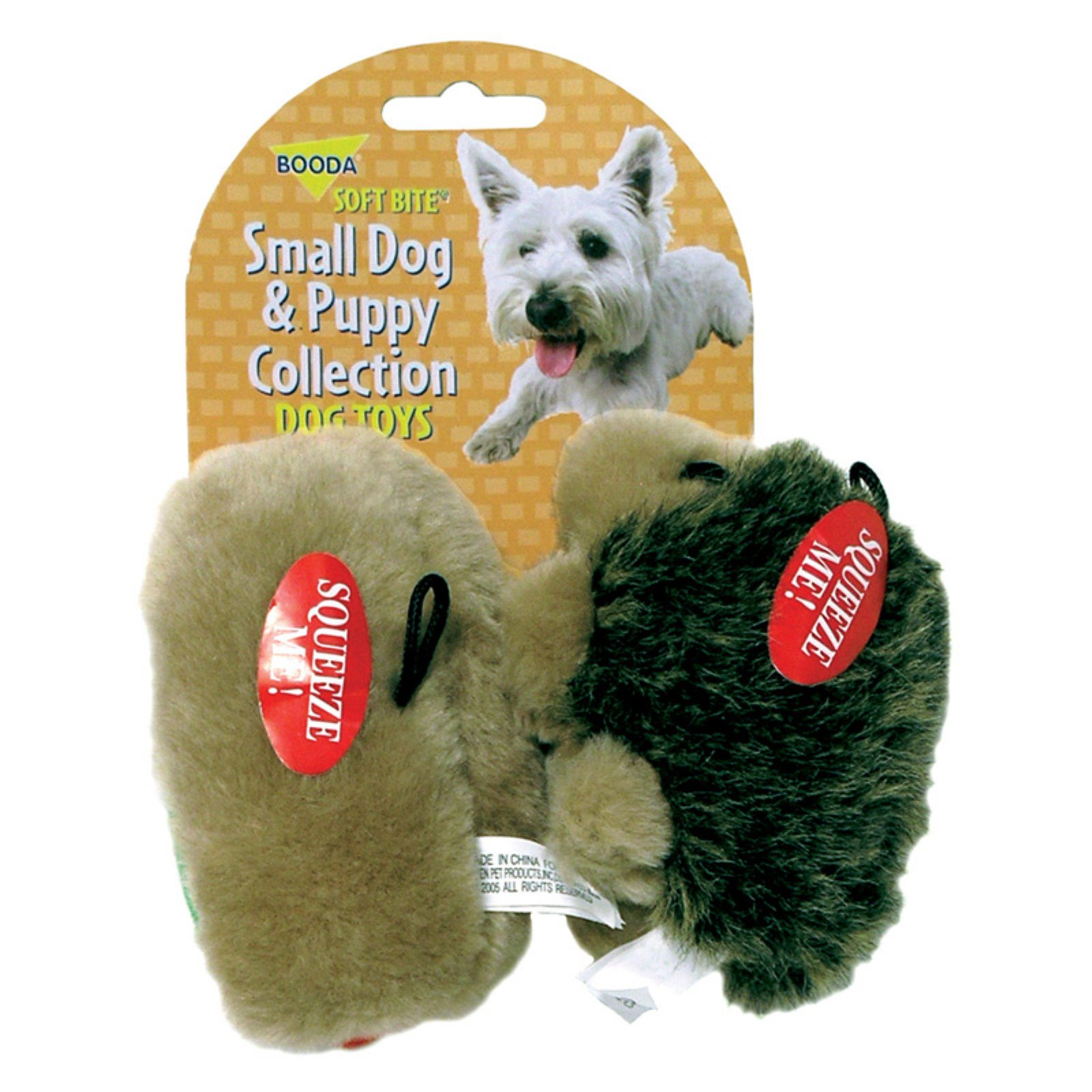 Petmate Doskocil Co. Inc. Dog and Puppy Toy, Hedgehog and Hotdog, Small