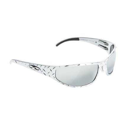 Bagger Frame (ICICLES Baggers Diamond Silver Lens Mirror Sunglasses with Chrome Frame )