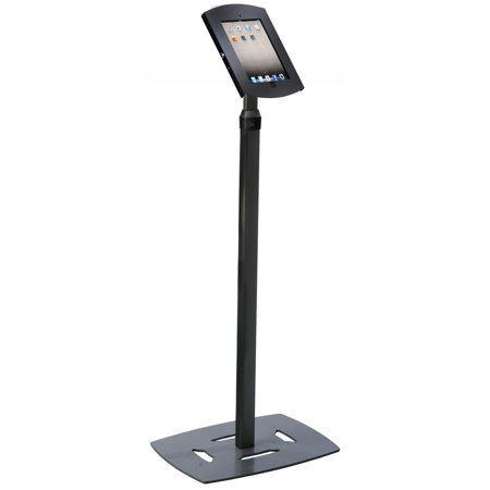 Displays2go iPad Floor Stand, Height Adjustable, Locking Enclosure, Credit Card Bracket, for iPad 2-4 and Air ( (Air Conditioner On Emi Without Credit Card)