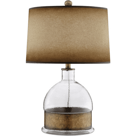 Table Lamps 1 Light Fixtures With Clear and Antique Brass Finish Glass Iron Material 16 inch Wide 150