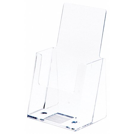 Plymor Brand Clear Acrylic Tri-Fold Paper Brochure Literature Holder