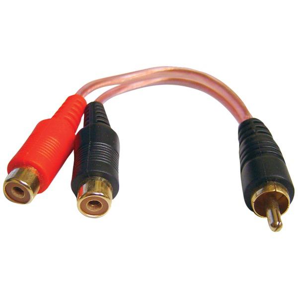 db Link Xly2fz X-Series RCA Y-Adapter, 2 Female/1 Male