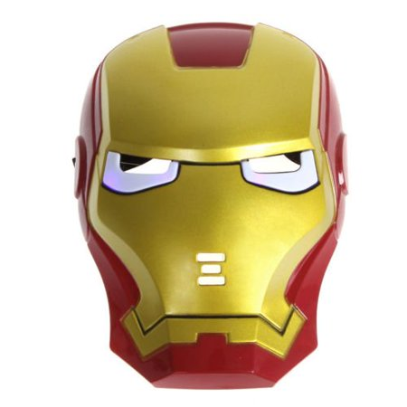 Googly Eyes Halloween Face (Iron Man LED Light Eye Face Mask Fancy Masquerade Halloween Costume Party By)