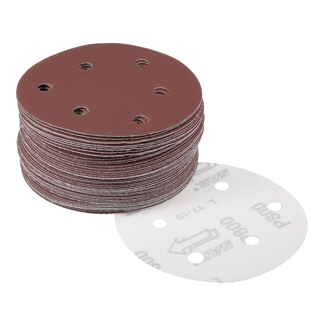 "5/"" Hook /& Loop Sanding Discs 800 Grit Round SandPaper Sanding Sheet 5 Inch 125mm"
