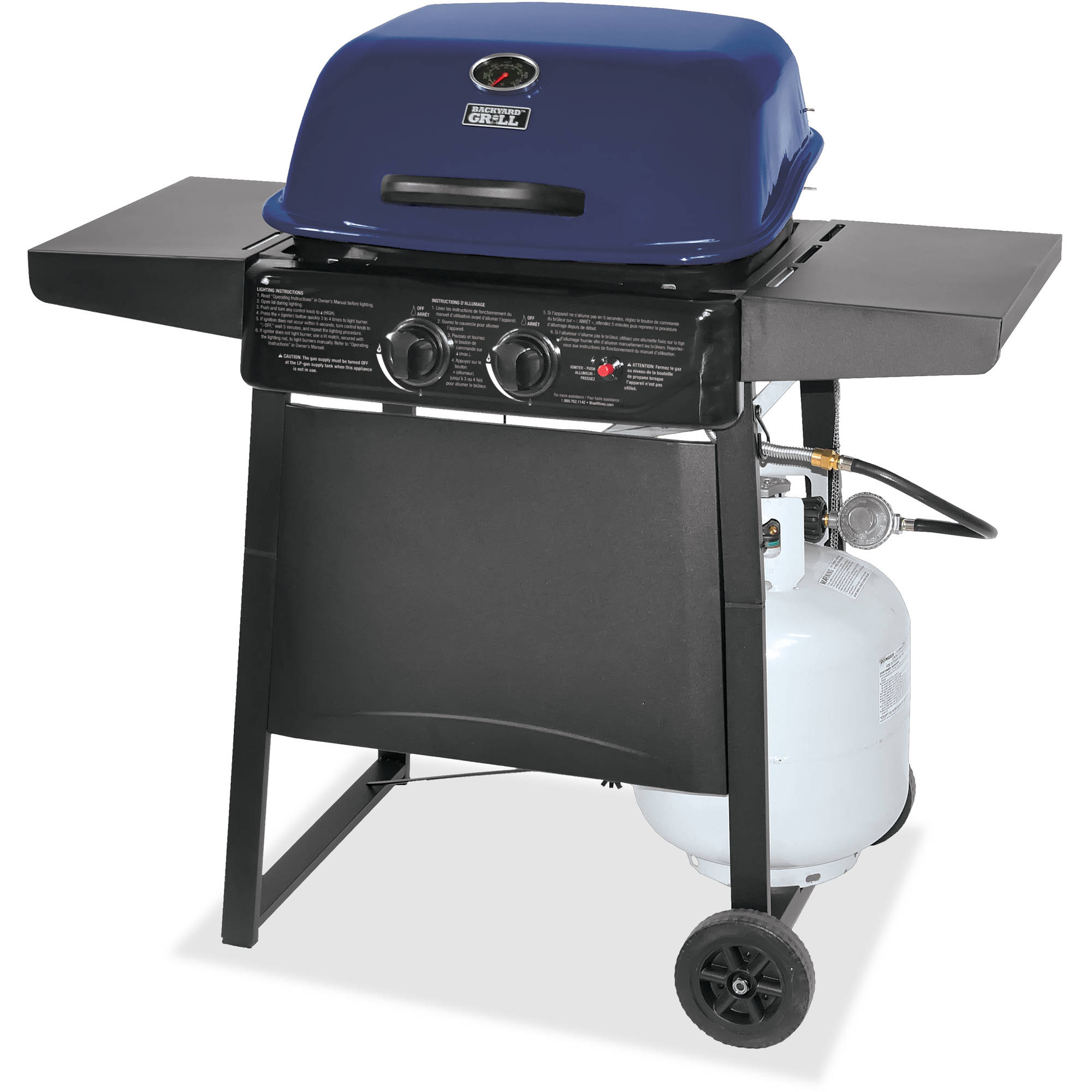 Backyard Grill 2-Burner Gas Grill, Blue