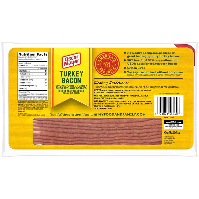 Oscar Mayer Turkey Bacon , 12 oz Vacuum