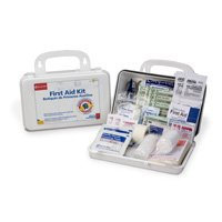 First Aid Only 222-G First Aid Kit, 63 pc 10 Unit Plastic Case, 4-9 16 in W x 7-11 16 in L by First Aid Only