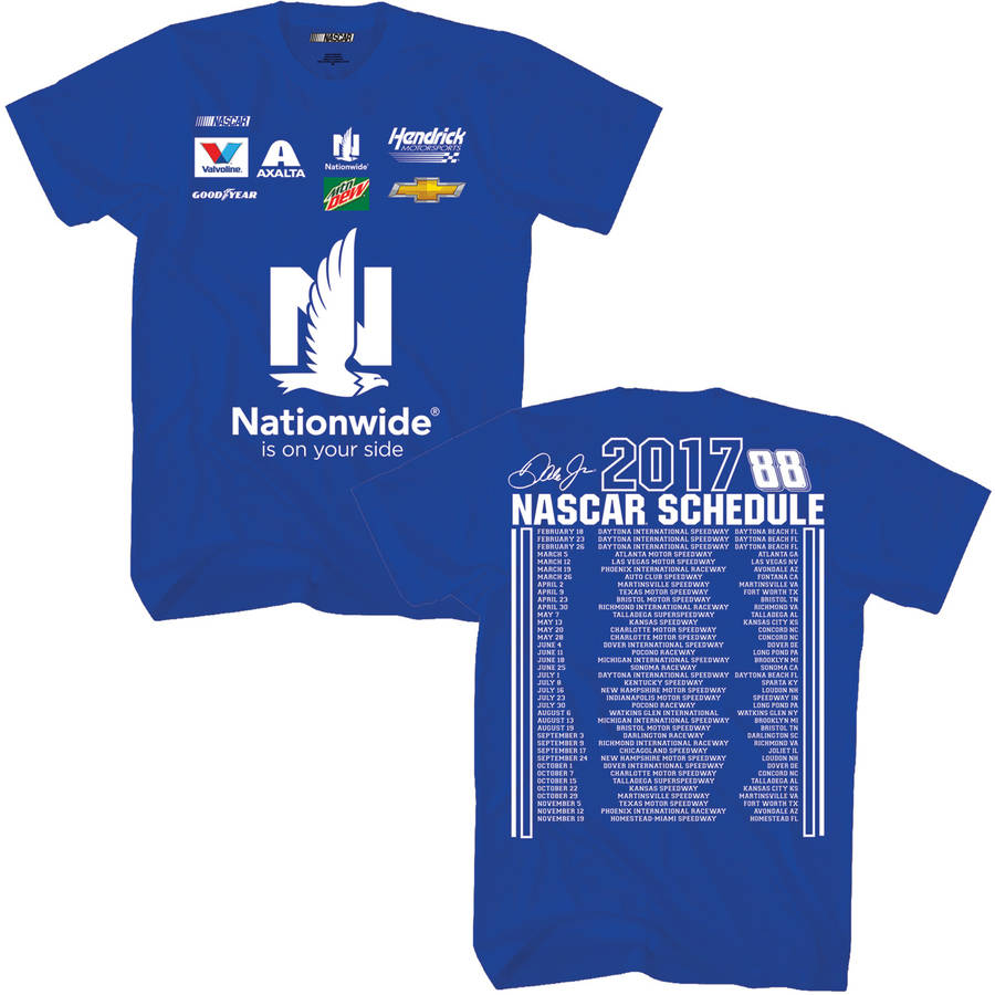 Nascar Dale Earnhardt Jr. Men's 2017 Nationwide Schedule Tee