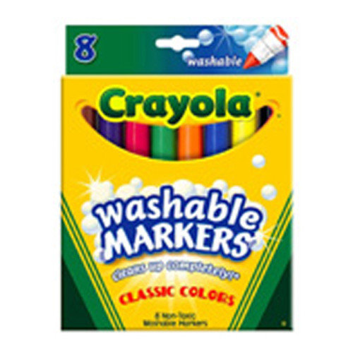 Crayola LLC Washable Coloring Markers 8 Colors (Set of 2)
