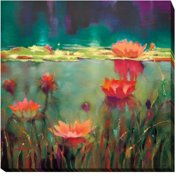 Artistic Home Gallery 'Nightfall' by Donna Young Painting Print on Wrapped Canvas