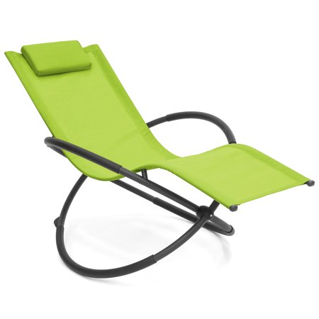 Best Choice Products Folding Orbital Zero Gravity Lounge Chair w/ Removable Pillow (Green) ()
