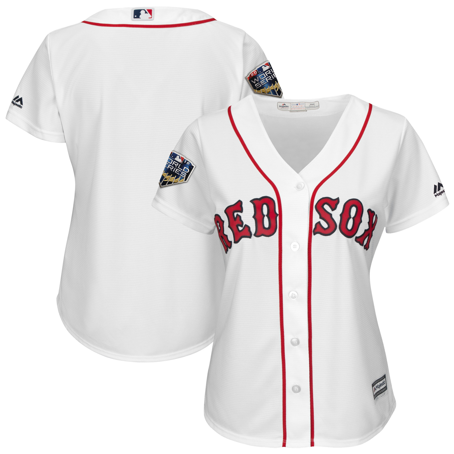 Boston Red Sox Majestic Women's 2018 World Series Cool Base Team Jersey - White