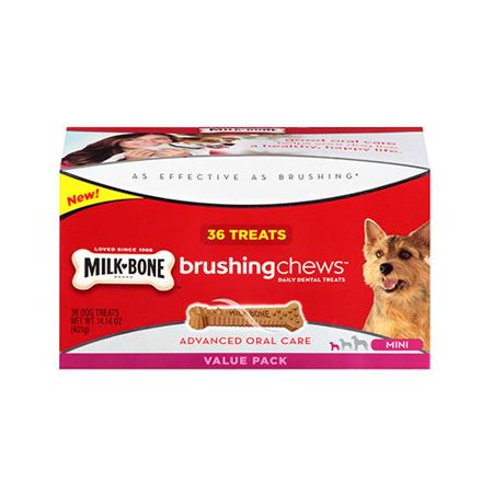 Jm Smucker Retail Sales 10079100006103 Brushing Chews Daily Dental Treat  36 Ct  Mini