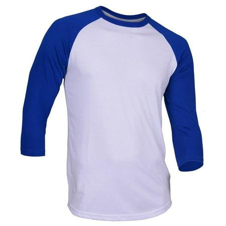 Mens Baseball Raglan Sleeve Shirt Jersey Uniform Tee