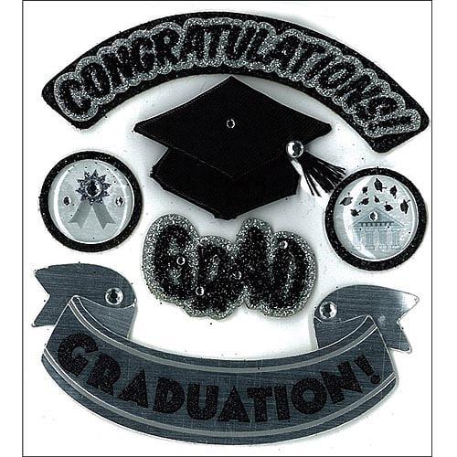 EK Success Jolee's Boutique Hats Of Grad Sticker Sheet, #50-20419