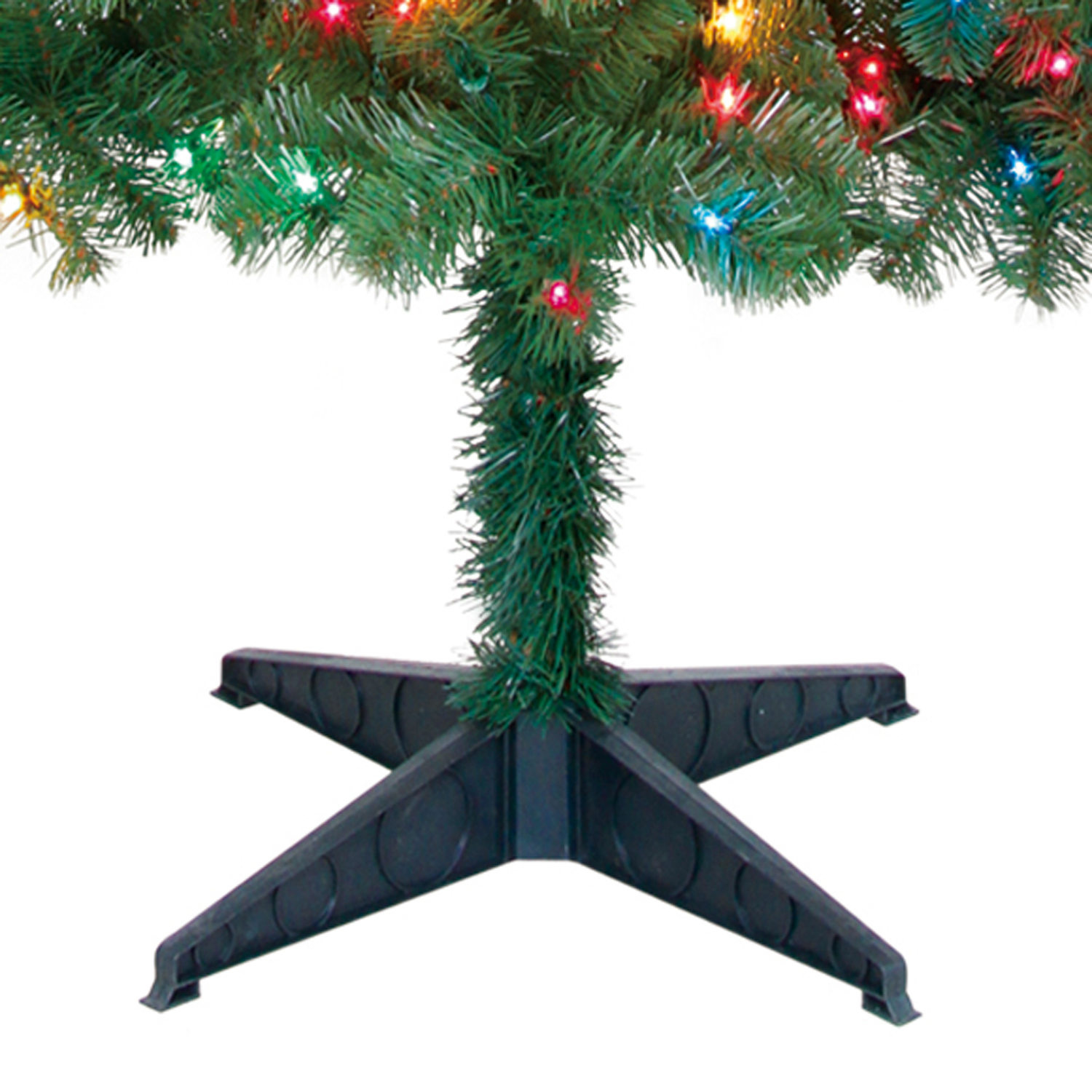 pre lit 65 artificial christmas tree multicolor lights wstand holiday season - Artificial Christmas Tree Stand