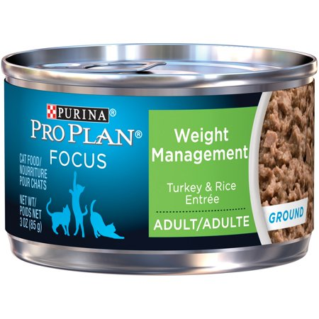Purina Pro Plan Focus Adult Weight Management Turkey & Rice Entree Ground Cat Food 3 oz. Can