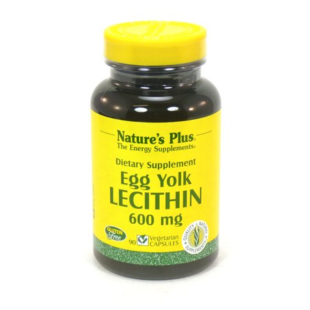 Natures Plus Lecithin - Nature's Plus Egg Yolk Lecithin 600 mg - 90 VCapsules