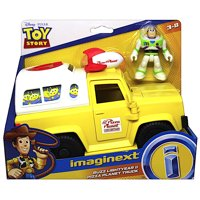 """Pizza Planet Truck with Buzz Lightyear Toy Story Imaginext Figures 2.5"""""""