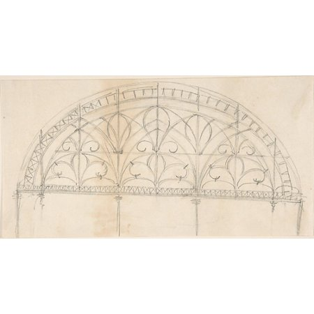 Arched Panel of Wrought Iron Ornament Poster Print by Anonymous British 19th century (18 x (Wrought Iron Arch)