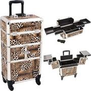 Sunrise I3164LPBR Leopard Trolley Makeup Case