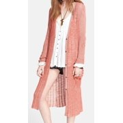 Free People NEW Red Women's Size Medium M Cardigan Button-Down Sweater