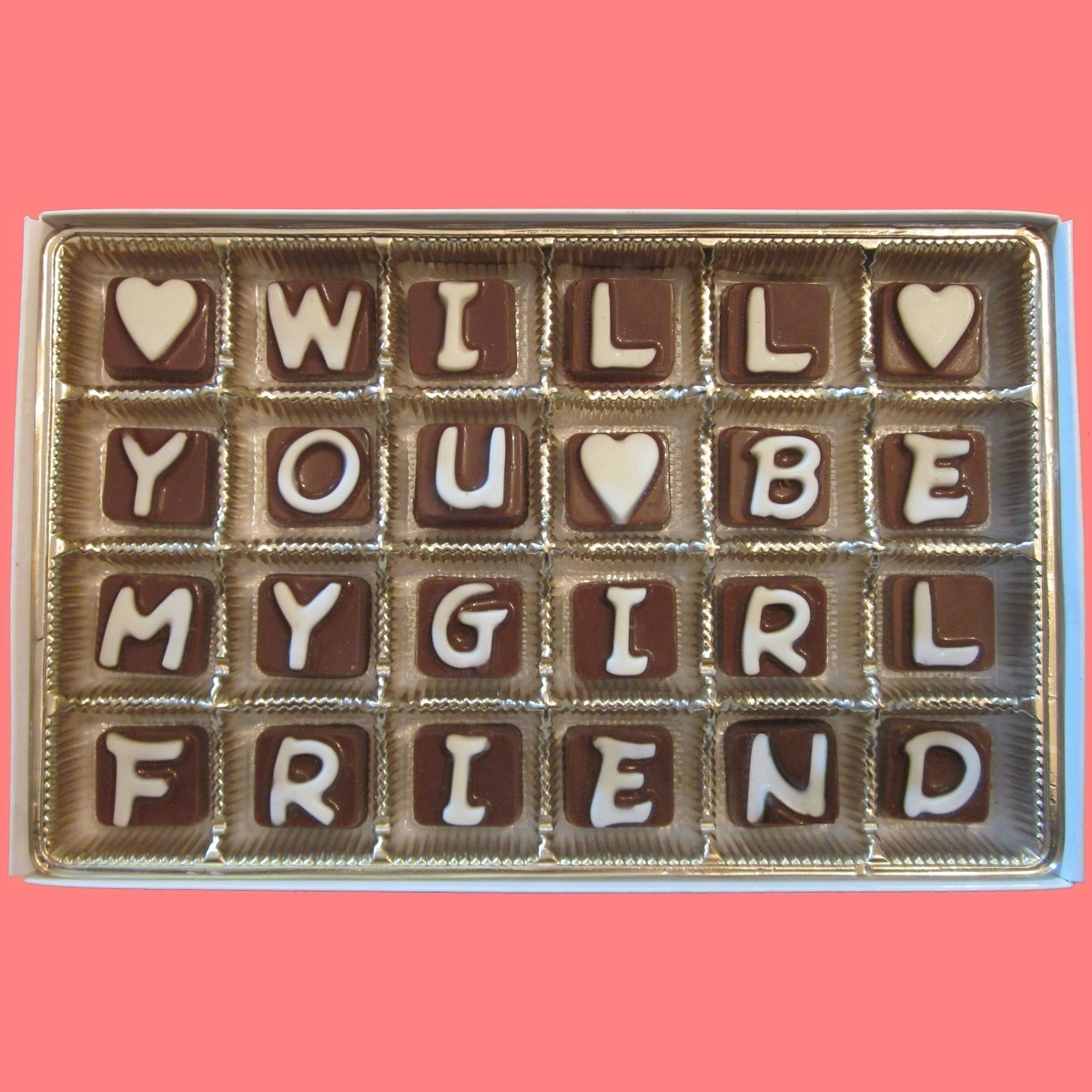 Will You Be My Girlfriend Cubic Chocolate Letters Walmartcom