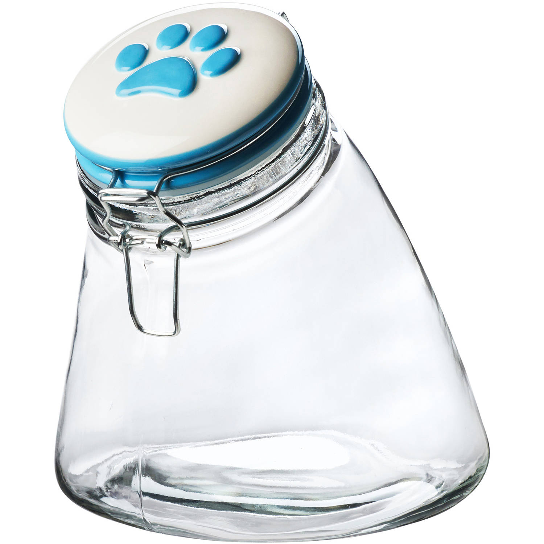 Paw Hermetic Preserving Jar, 56 oz, Blue