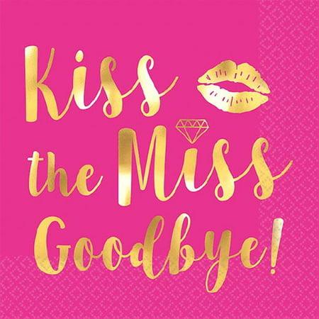Bachelorette Party Napkins (Bachelorette Party 'Kiss the Miss Goodbye' Small Napkins)