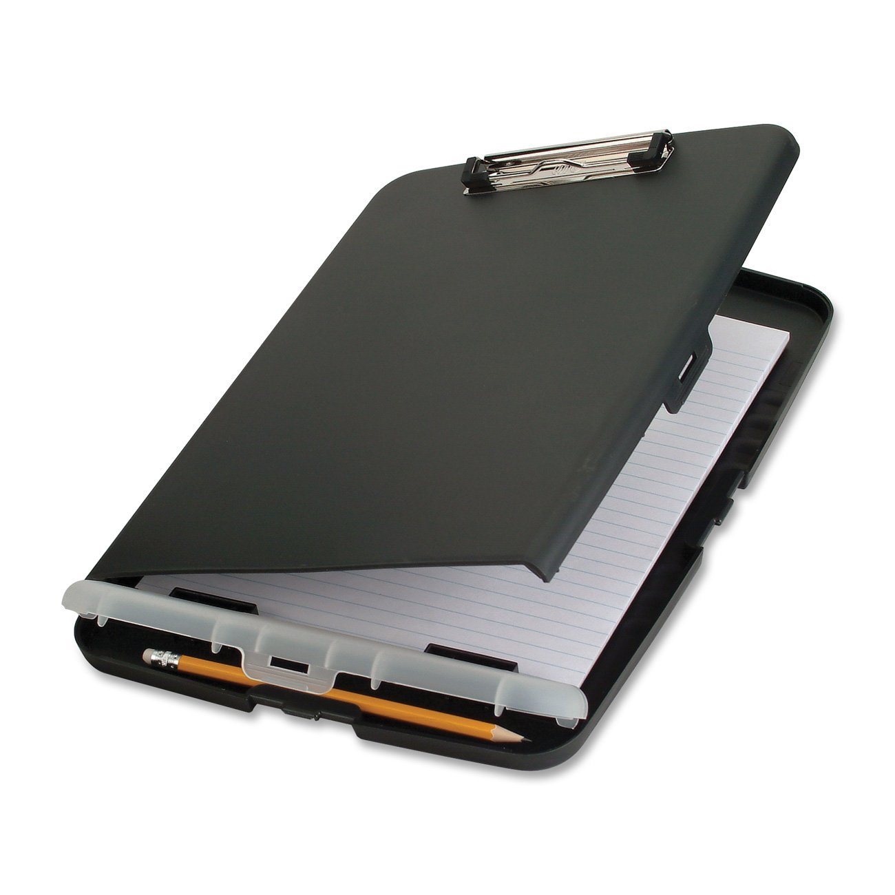 Slim Clipboard Storage Box, Charcoal (83303), All Each Awareness Size Black 83309 2Pack Capacity 83357 83353 11 12 Gray 00559 Carry OIC Box.., By Officemate